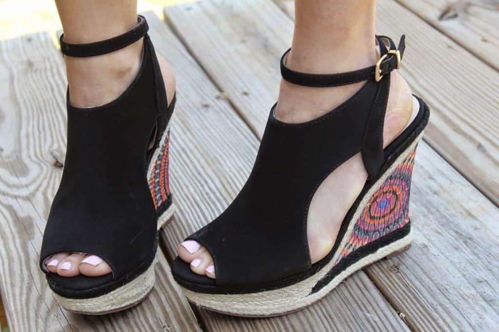 Bright wedges via Rack Room Shoes