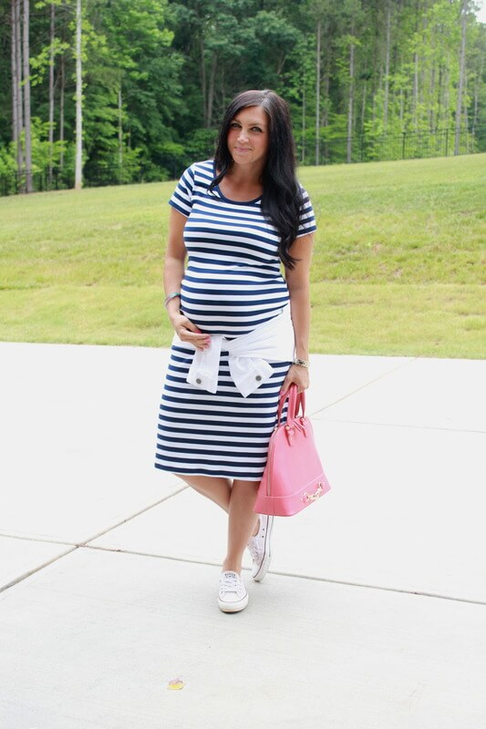 Dress the bump: 26 weeks pregnant, J. Jill, Target, Converse