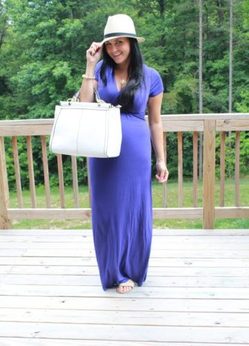 Fashion || All About That Purple: 28 Weeks Pregnant