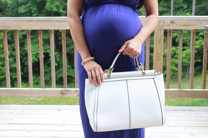 BumpStyle Box Review, Maternity Maxi Dress via Stilettos and Diapers