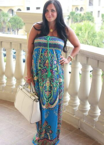 Fashion || Print to the Maxi: 29 Weeks Pregnant