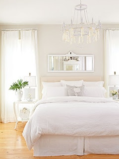 All White Master Bedroom