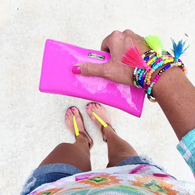 Kate Spade Wallet, bright tassel bracelet