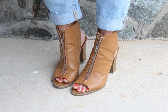 Report zipper heels, Rack Room Shoes