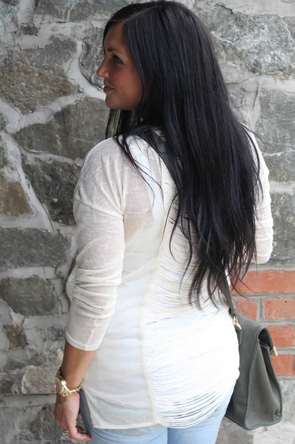 Detail back sweater