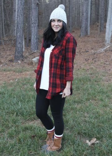 Fashion || Red and Black Plaid Comfort