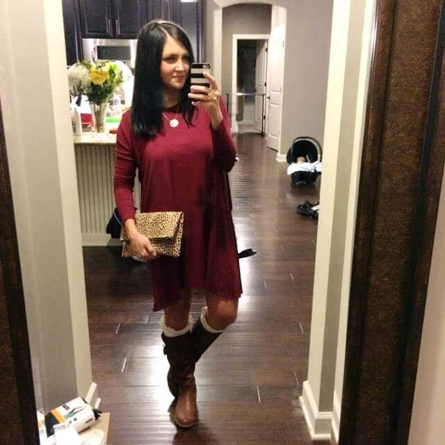 Stilettos and Diapers: Piko Dress, boots and boot socks