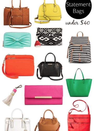 Sale Alert! Statement Bags Under $40!
