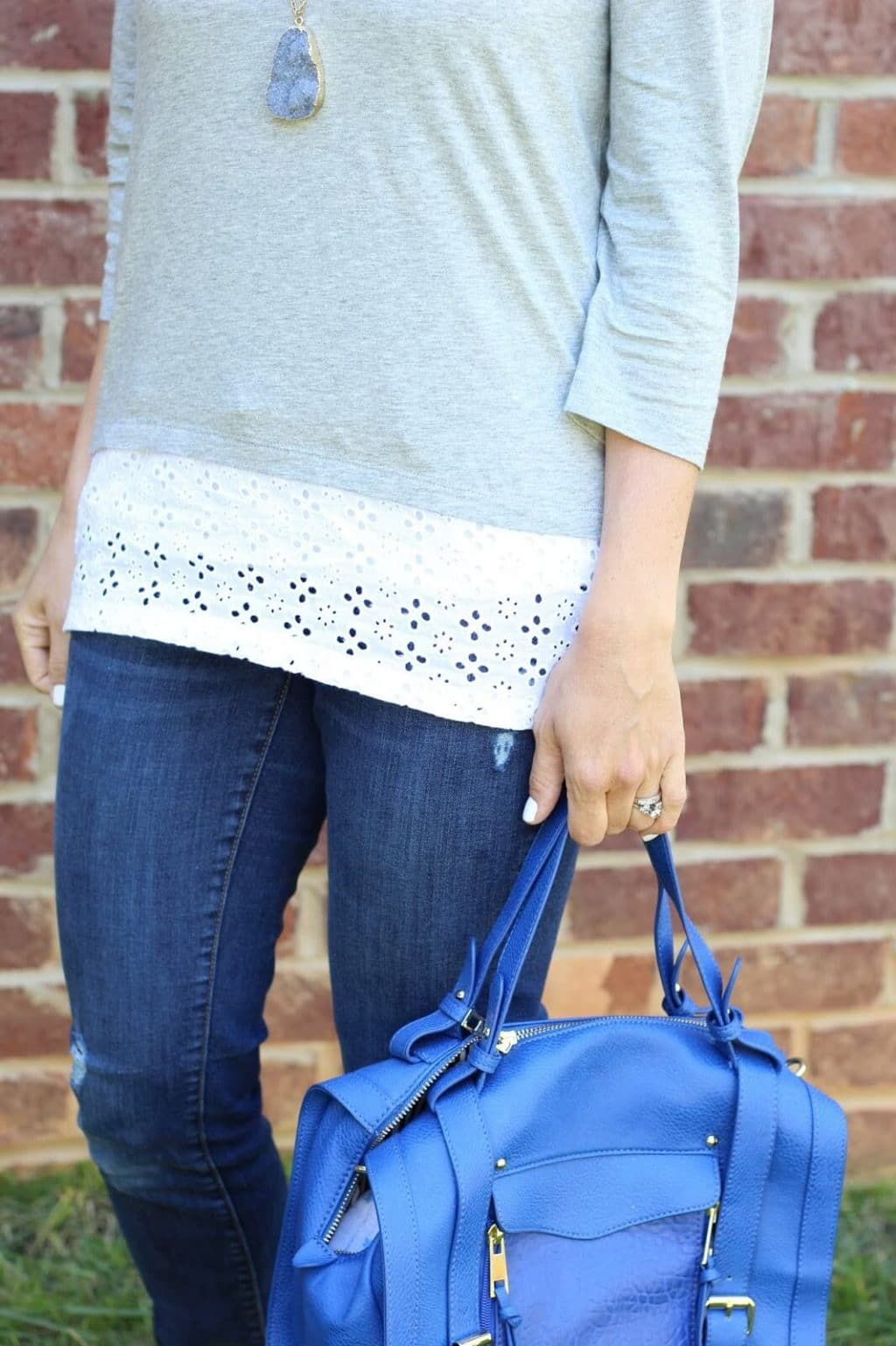 White eyelet top from J. Jill