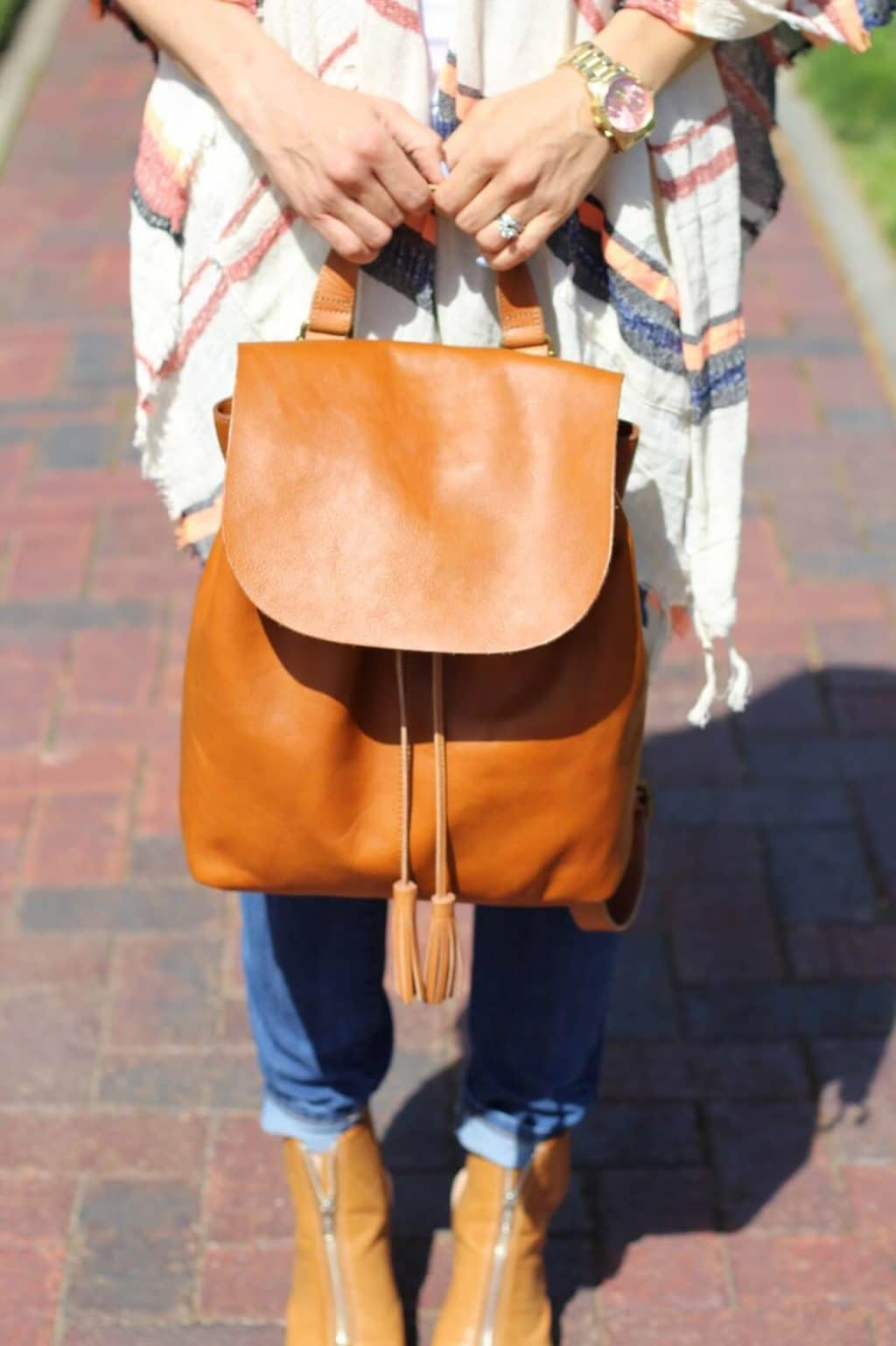 J jill Tassel Backpack