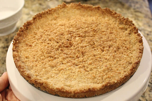 Coconut Crust, Gluten Free, Dairy Free, No sugar added, Paleo