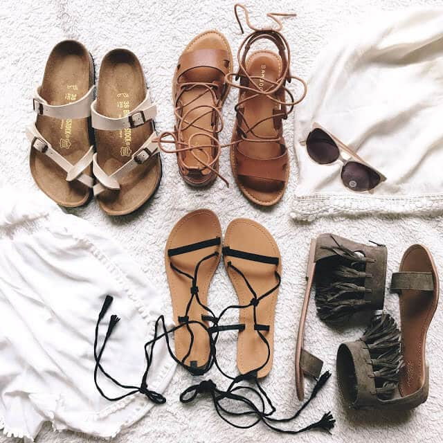 Charlotte Russe sandals, lace-up sandals, tassel sandals, fringe,