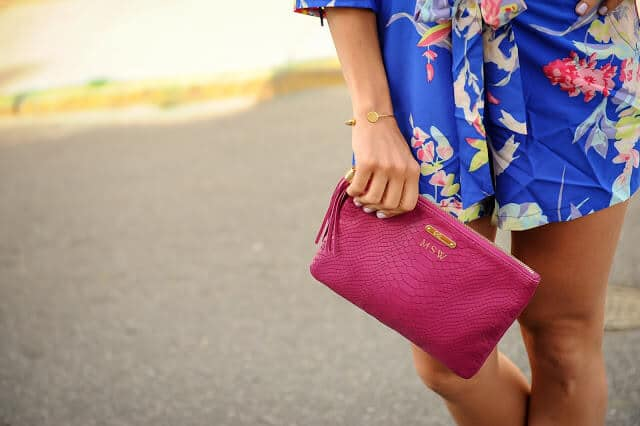 Floral Romper, GiGi New York Clutch