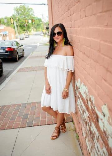 Fashion || White Tassel Dress