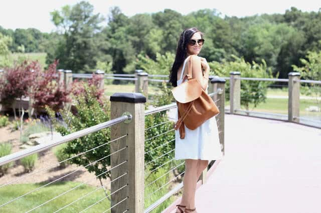 Chambray, tan, espadrilles