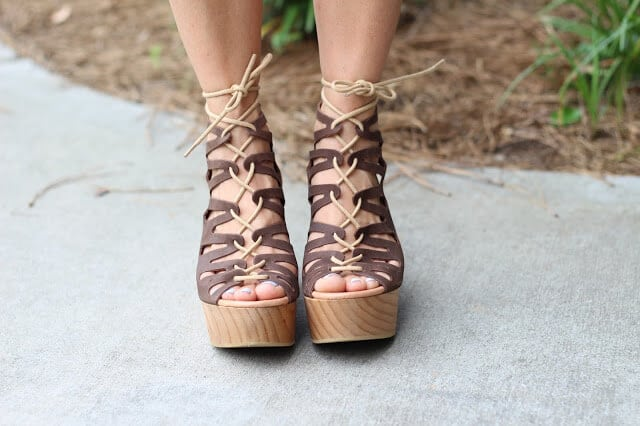 Musse & Cloud lace up wedges