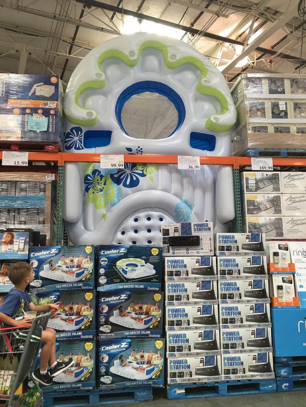 Costco floating island