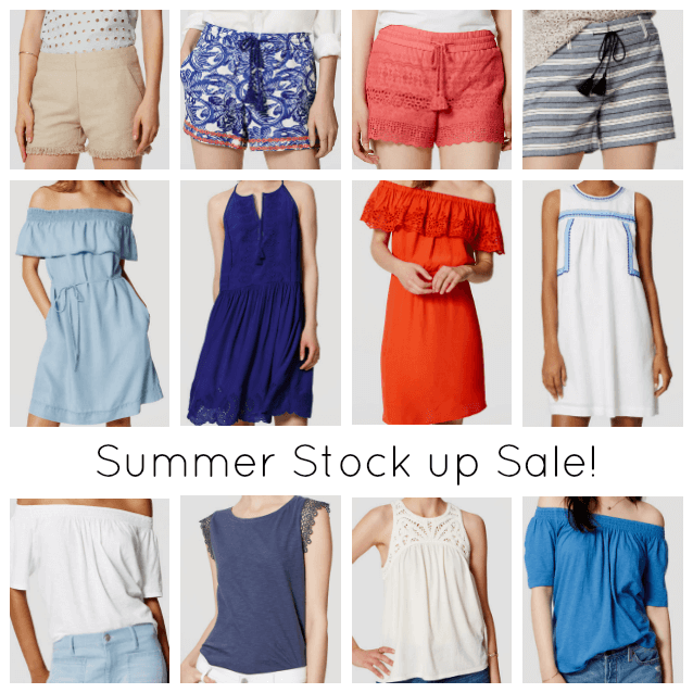 best summer sales, loft, off the shoulder chambray dress deal