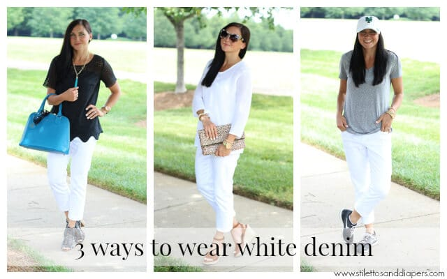 How to wear white cropped denim