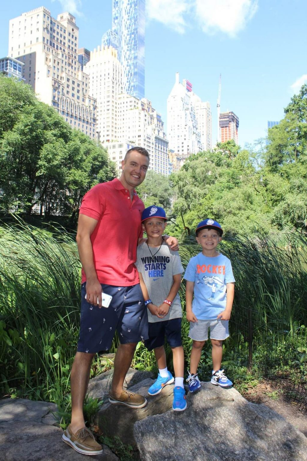 Visiting Central Park with family