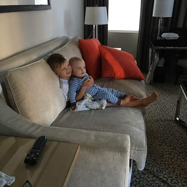 Suite Living area, Omni Berkshire Place