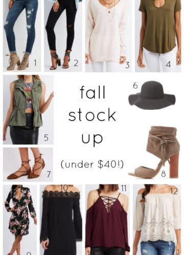 Fashion || Fall Sale (Under $25!)