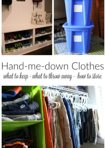 Motherhood || Hand-me-down Clothing