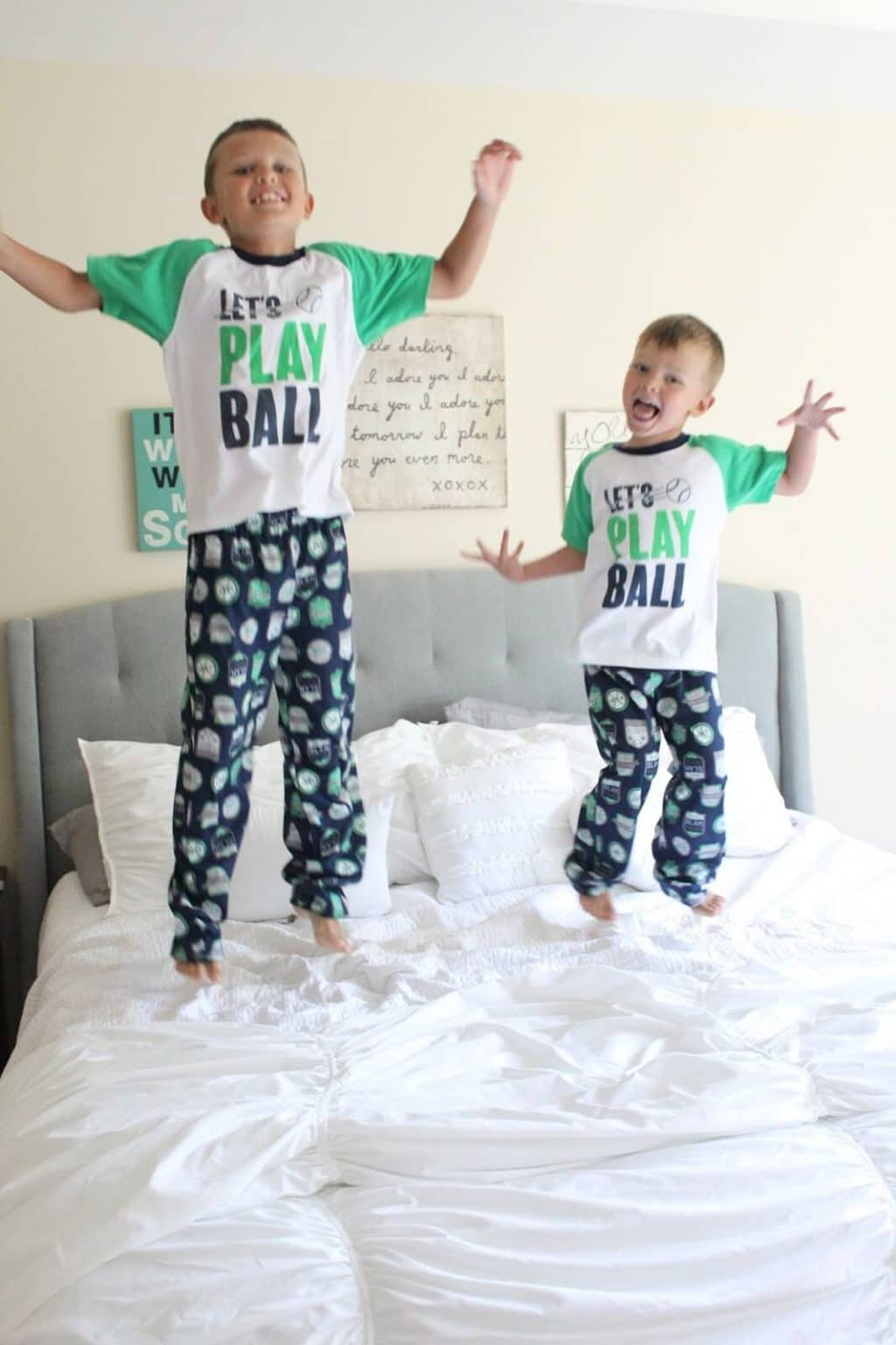 Kohl's Carters Matching Pajamas for brothers