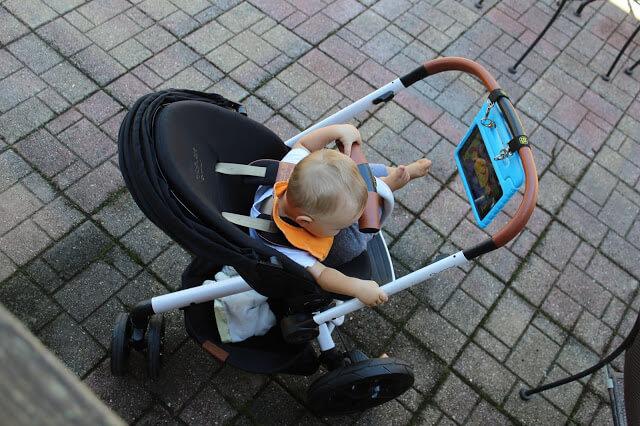 Rachel Zoe Quinny Diaper Bag, Moodd Stroller, Hook iPad to stroller