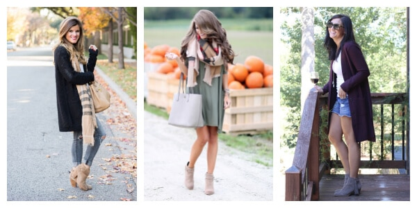 How to wear tan booties in the fall
