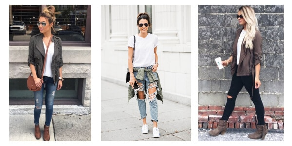How to wear a white tee in the fall
