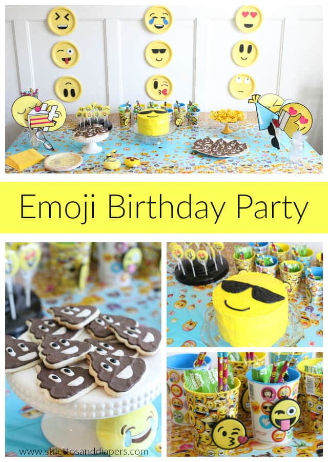5 Year Old Birthday Emoji Party Fun Theme