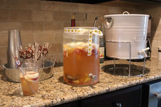 Sangria birthday party beverages