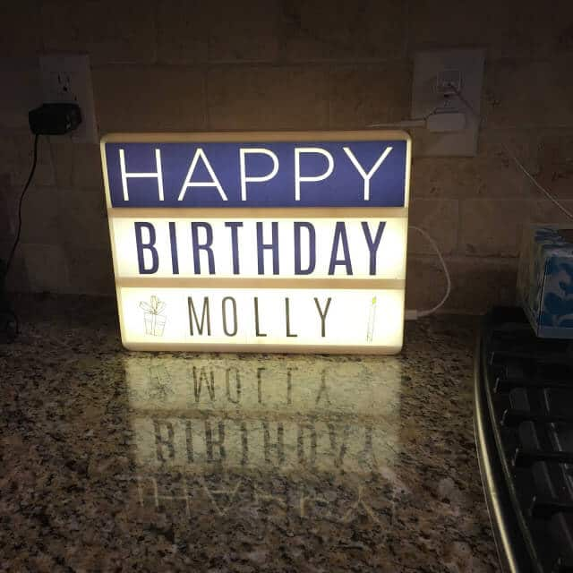 Light up word board