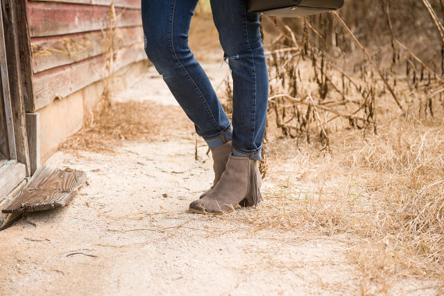 Rack Room Shoes Tassel Booties, Taupe Booties