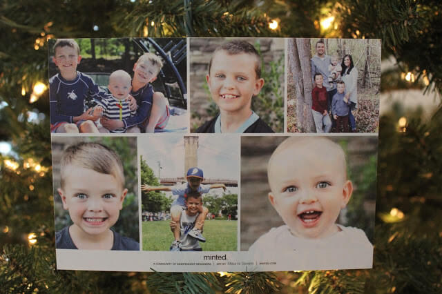 Minted Christmas Card | Stilettos and Diapers