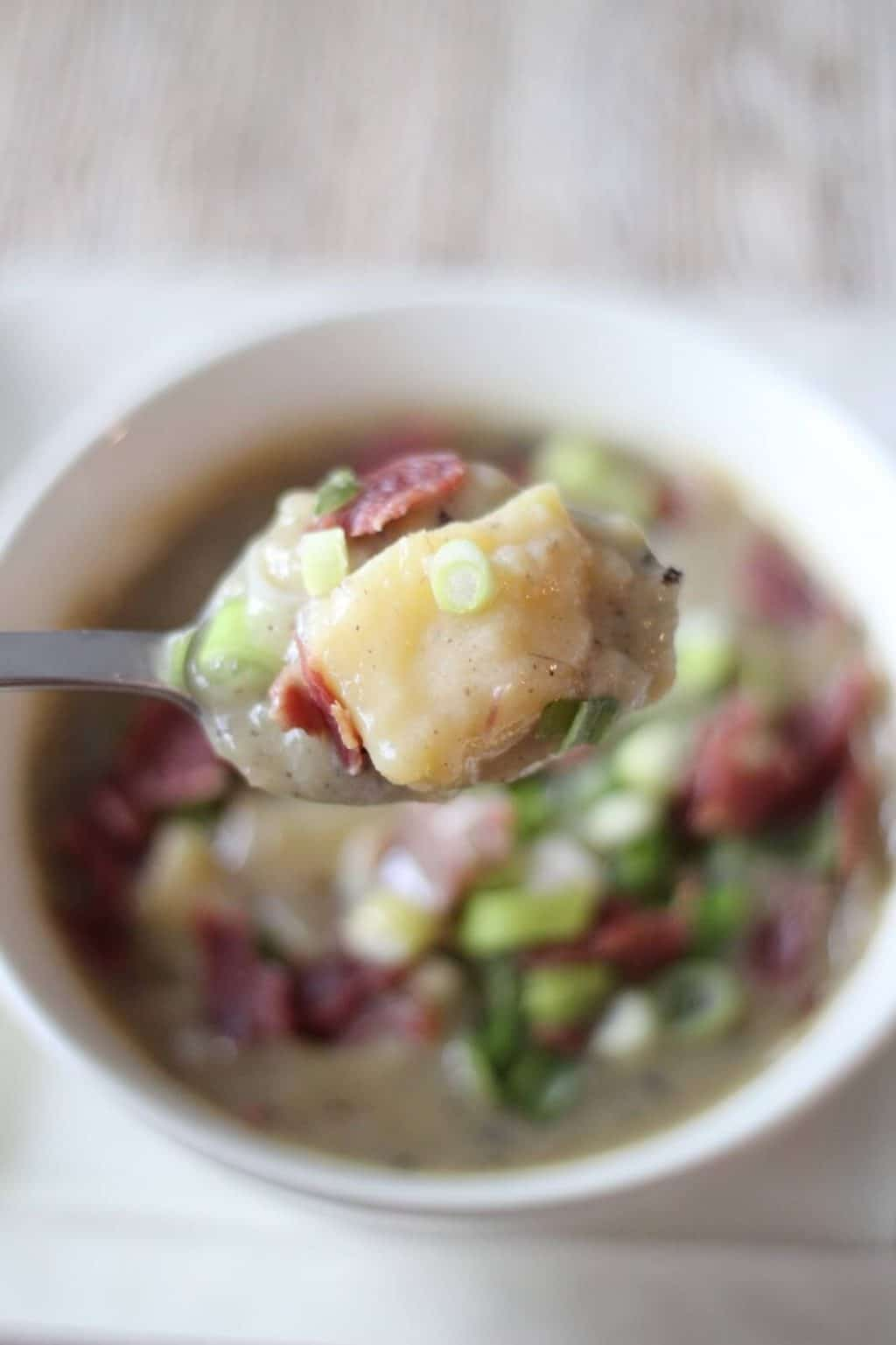 Whole30, dairy free loaded potato soup
