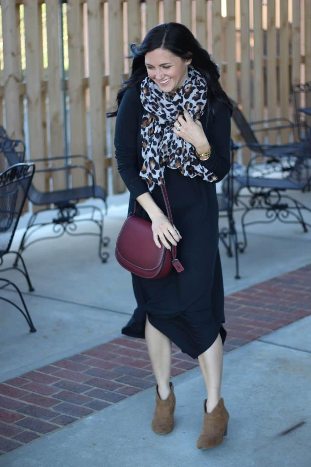 How to style a basic black maxi dress