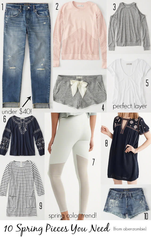 Best Spring Pieces From Abercrombie and Fitch