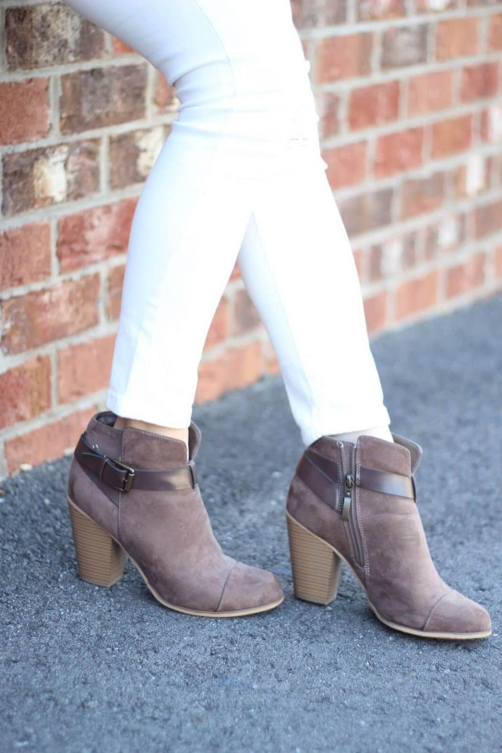Neutral Winter to Spring Transition booties, Asheville, NC