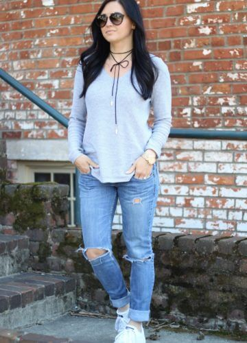 Distressed Denim and the Sweater You Need