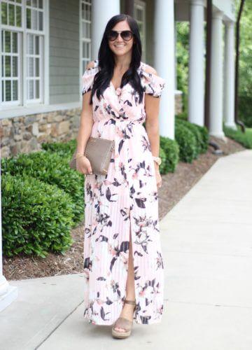 Feminine Floral Maxi Dress