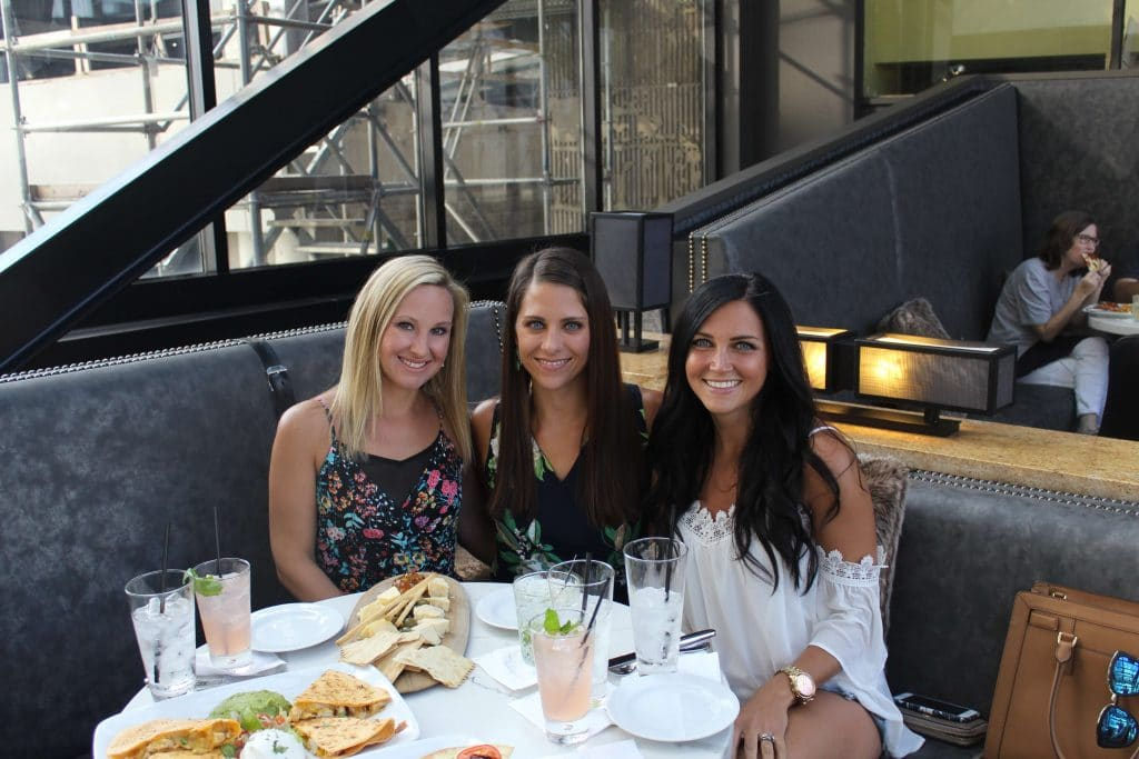 Renaissance Nashville Bridge Bar Review, Girls weekend dinner