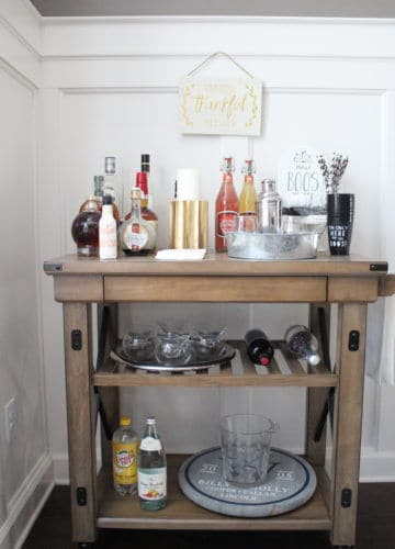 Essentials for a Fall & Halloween Bar Cart