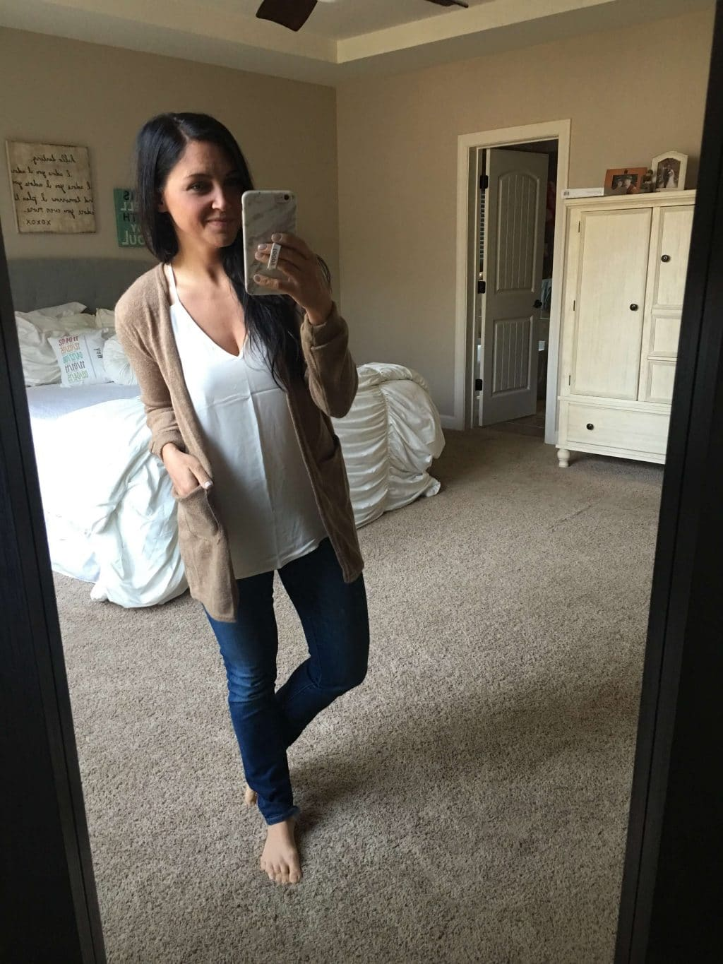 067c7e2c5e Crossover Sweater. I've seen one very similar to this one for over $60!  This is a thick sweater with an oversized fit. I put a tank underneath, ...