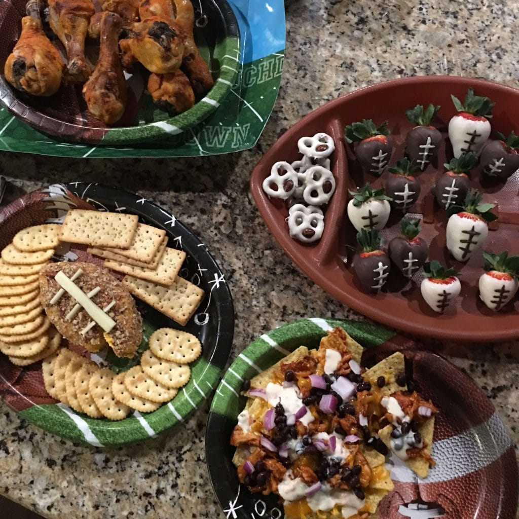 Super Bowl Food Spread
