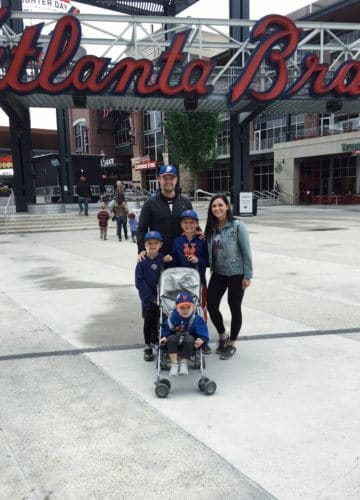 Atlanta Braves game, Family baseball trip, Boymom, Stilettos and Diapers