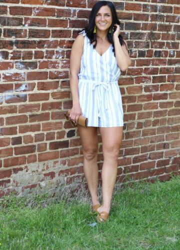 Striped Summer Romper, Bows