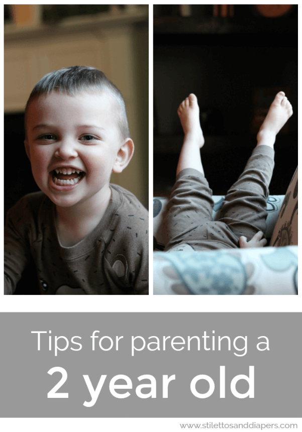 A boy mom's tips for parenting a 2 year old via Stilettos and Diapers