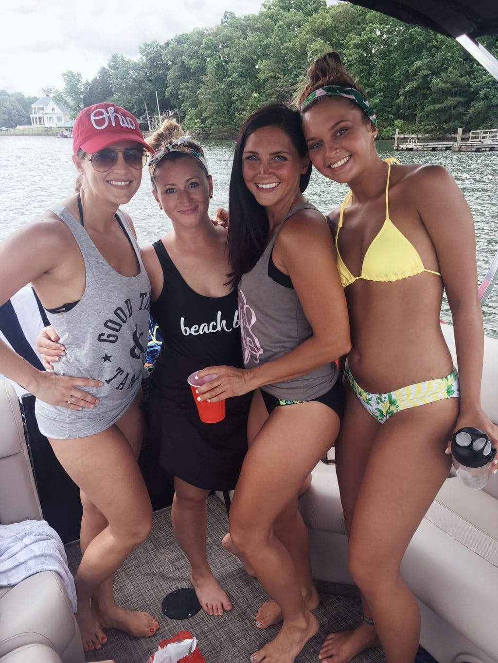 Lake Norman, Sisters, Boat Day, Stilettos and Diapers, Molly Wey